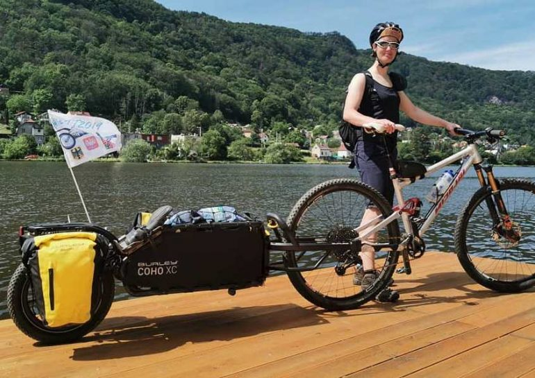 Mountain bike trailer