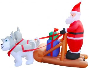Inflatable Christmas Santa Dogs