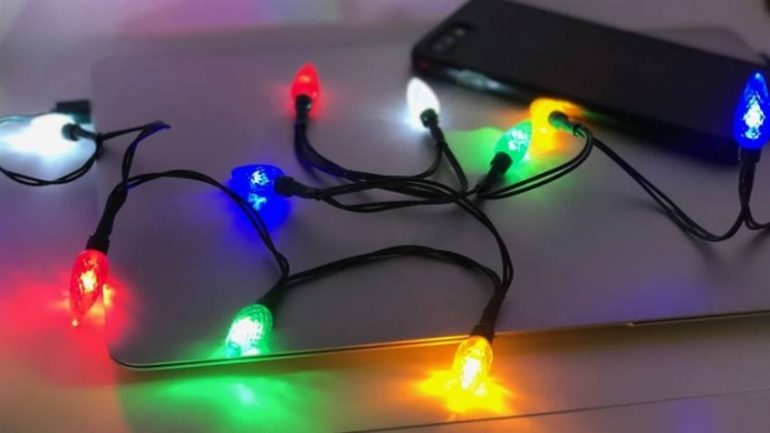 christmas lights charging cable