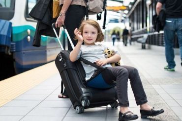 This Lugabug Suitcase Turns Your Carry-On Into A Convenient Ride For Kids
