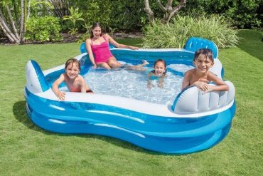 Best Inflatable Lounge Pool With Built-in Chairs Is The Big Enough For Adults