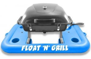 Portable floating Propane Grill