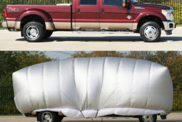 This Inflatable Hail Protector Will Give More Protection To Your Car At The Outside Parking Spot