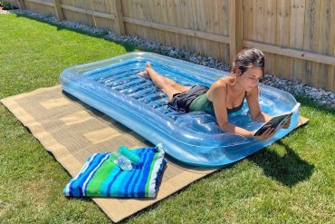 The Best Inflatable Sunbathing Pool That Doubles As A Tiny Pool