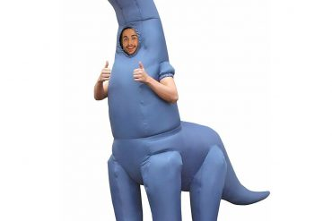 This Gigantic Inflatable Long Neck Dinosaur Costume Will Ensure That You Are The Topic Of The Party